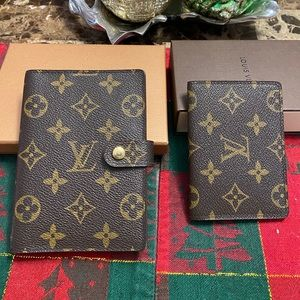 Authentic Louis Vuitton Agenda PM and passcase